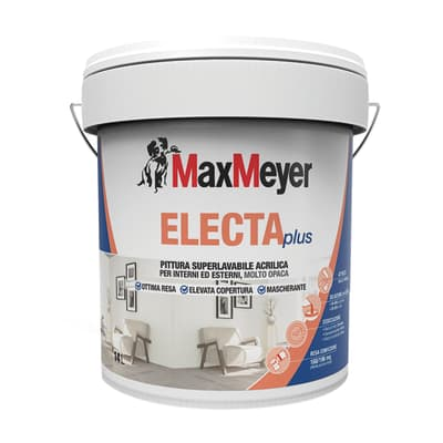 Pittura murale ElectaPlus MAX MEYER 14 L bianco