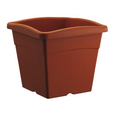 Vaso Festo in plastica colore cotto H 26.5 cm, L 30 x P 30 cm