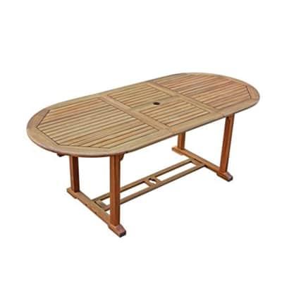 Tavolo da giardino allungabile rettangolare Acacia NATERIAL in legno L 150 x P 90 cm