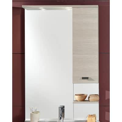 Specchio contenitore con luce Rimini L 70 x P 18.5 x H 108 cm larice laminato