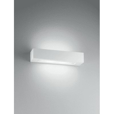 Applique design Candida bianco, in gesso, 36 cm, 2 luci