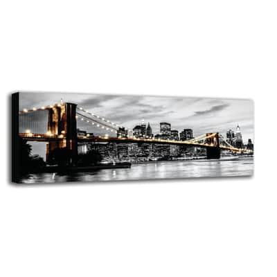 Quadro su tela Brooklyn Lights 125x40 cm
