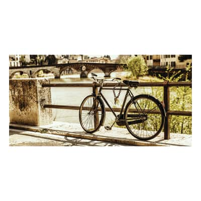 Quadro su tela Verona Bici Sul Ponte 70x140 cm