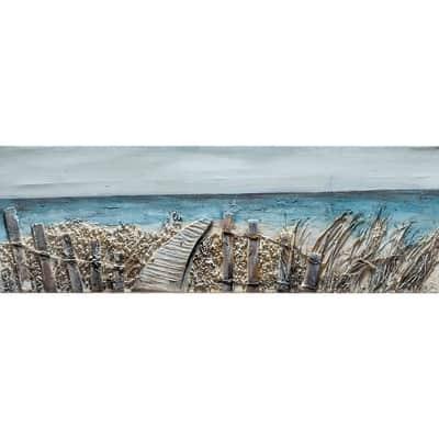 Quadro dipinto a mano Mare3 90x30 cm