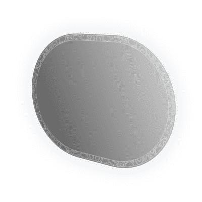 Specchio con illuminazione integrata bagno ovale Miami L 100 x H 75 cm