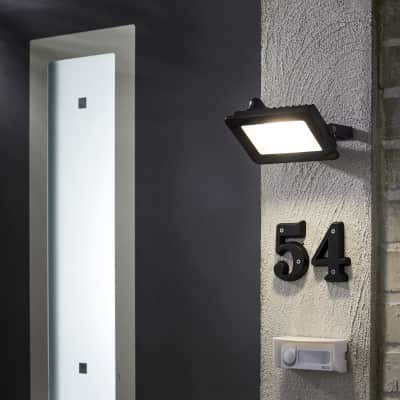 Proiettore LED integrato Yonkers in alluminio, antracite, 20W IP65 INSPIRE