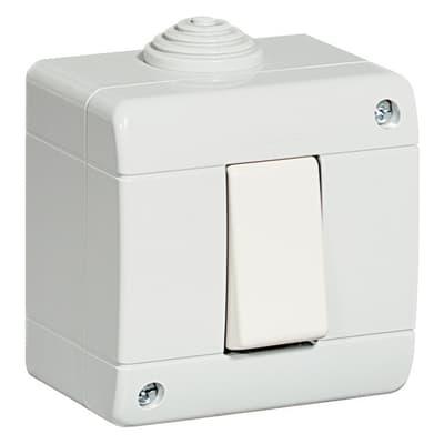 Scatola da parete componibile 10 A bianco