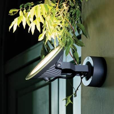 Applique Soft LED integrato in alluminio, nero, 60W 600LM IP54
