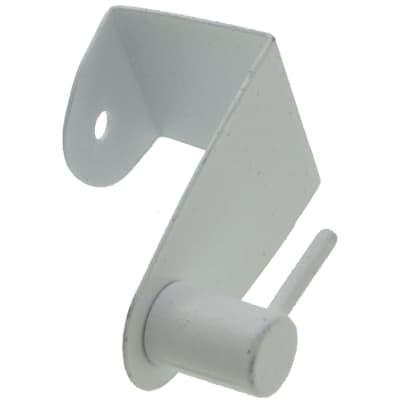 Supporto Ø25/28mm Elegance in metallo bianco opaco, 2 pezzi
