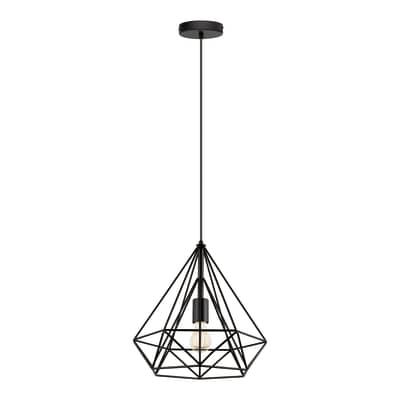Lampadario Design Byron nero in metallo, D. 37 cm, INSPIRE