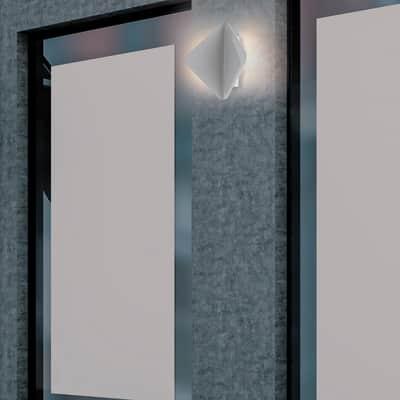 Applique kite led integrato in alluminio bianco 6w 550lm for Profilo alluminio led leroy merlin