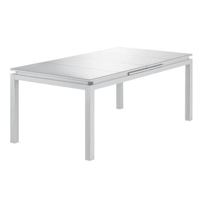 Tavolo da giardino allungabile rettangolare Odyssea NATERIAL in alluminio L 180 x P 100 cm