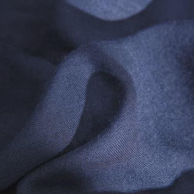 Tenda di pizzo NAUSICA blu anelli 140x280 cm