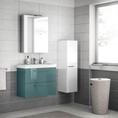 Mobile bagno Remix verde laguna L 75 cm