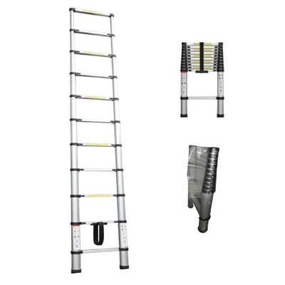 Scala telescopica S1405115 in alluminio 10 gradini per lavori fino a 3.20 m