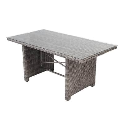 Tavolo da pranzo per giardino rettangolare Medina NATERIAL con piano in vetro x P 150 cm