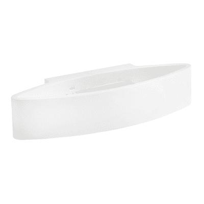 Applique design Cunassa bianco, in vetro, SFORZIN