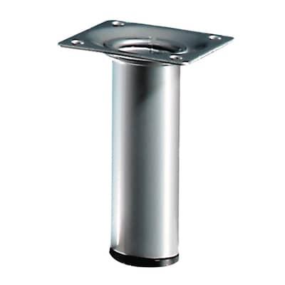 Gamba mobili HETTICH acciaio argento resina epossidica Ø 30 mm x H 10 cm
