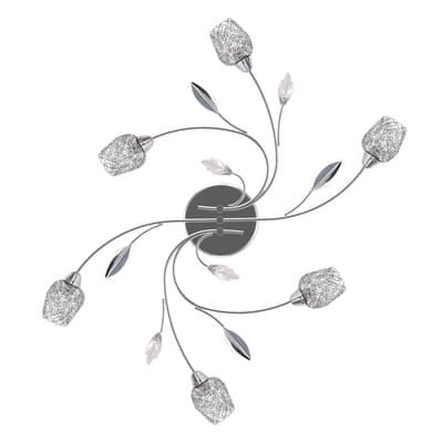 Plafoniera barocco Adriana cromato lucido, in metallo, 60 cm, 6  luci SEYNAVE