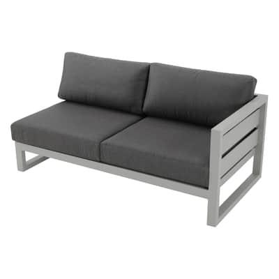 Divano con cuscino 2 posti in alluminio Arizona colore gtigio