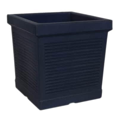 Vaso Quadro Millerighe in plastica colore antracite H 45 cm, L 45 x P 45 cm