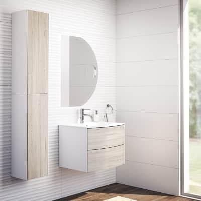 Mobile bagno Soho rovere sbiancato L 60 cm
