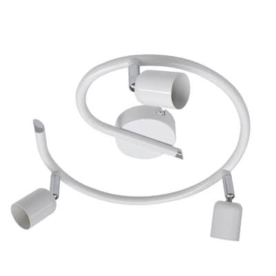 Plafoniera Basic new bianco, in ferro, GU10 3x50W IP20