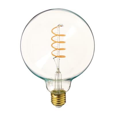 Lampadina decorativa LED filamento, E27, Faretto, Trasparente, Luce calda, 4W=300LM (equiv 28 W), 320° , XANLITE