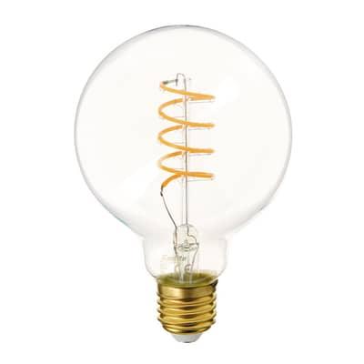 Lampadina LED E27 globo bianco caldo 4W = 300LM (equiv 28W) 320° XANLITE