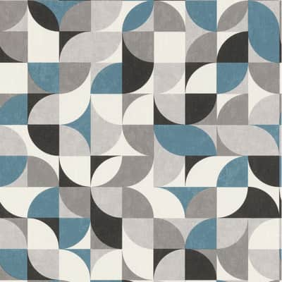 Carta Da Parati Geometrica.Carta Da Parati Geometrico Grigio E Argento