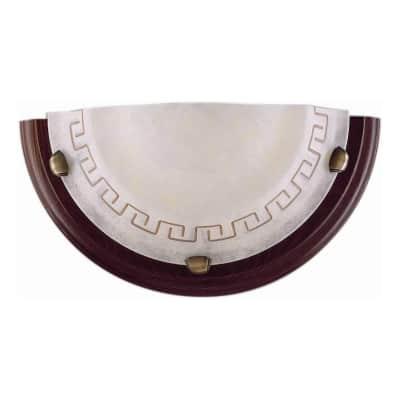 Applique Greca marrone, in legno, 15x30 cm, E27 MAX60W IP20