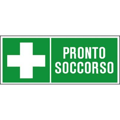 Cartello segnaletico Pronto soccorso pvc 31 x 14 cm