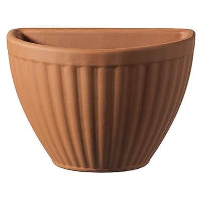 Vaso Rigata in terracotta colore cotto H 20.5 cm, L 32 x P 19 cm