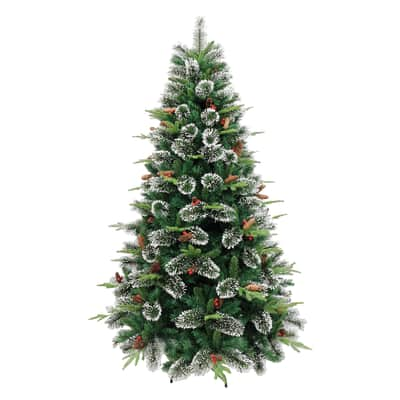Albero di natale artificiale Cortina verde H 150 cm,