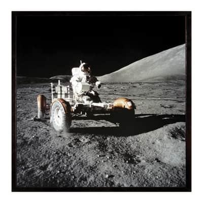 Stampa incorniciata Lunar rover 50.7x50.7 cm
