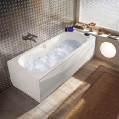 Vasca idromassaggio rettangolare Egeria,bianco ,160, 70 cm, 6 bocchette,
