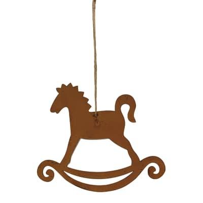 Cavallo a dondolo da appendere in metallo Bronzo , L 16 cm x P 0.5 cm