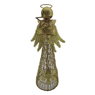 Puntale per albero di natale Angelo in metallo H 30 cm