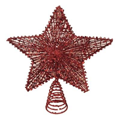 Puntale per albero di natale Stella in metallo H 30 cm