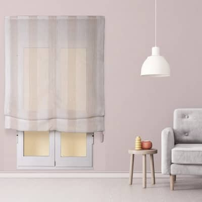 Tendina pieghevole in tessuto INSPIRE Riga Larga beige / bianco 120x175 cm