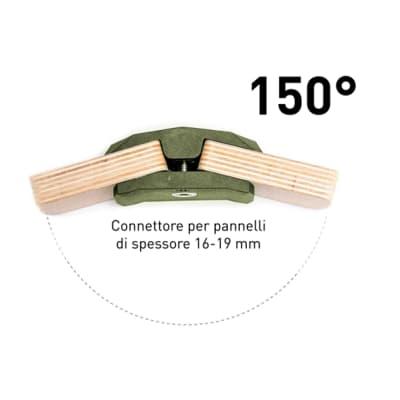 Sistema di assemblaggio playwood 150° in pvc L 152 x  4 pezzi , verde
