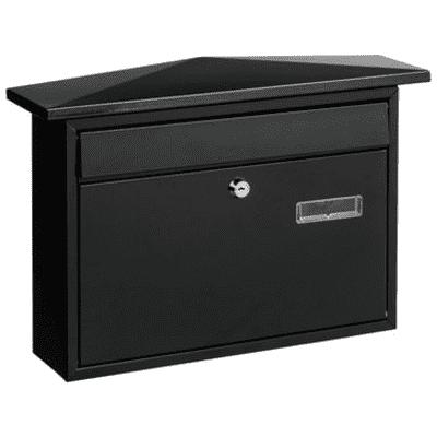 Cassetta postale STANDERS formato A4, nero, L 41 x P 10 x H 28.8 cm
