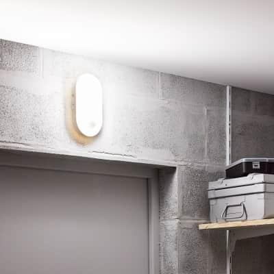 Applique Ezy LED integrato in plastica, bianco, 15W 1500LM IP65 INSPIRE