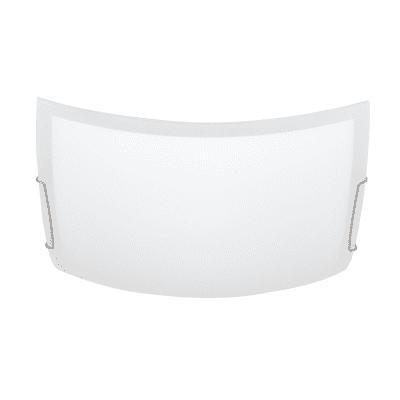 Plafoniera Quadra bianco, in vetro, 40x40 cm, E27 2xMAX42W IP20