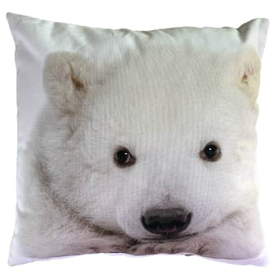 Cuscino Orso polare bianco 43x43 cm