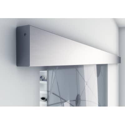Binario per porta scorrevole Alu/Vetro grigio L 2 m