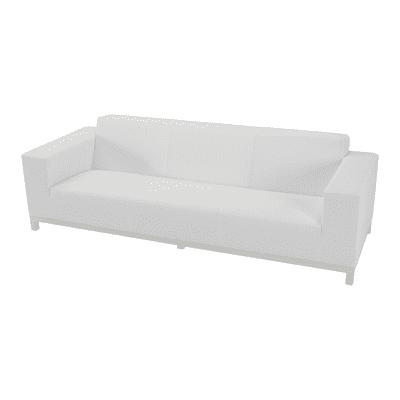 Divano in alluminio colore bianco