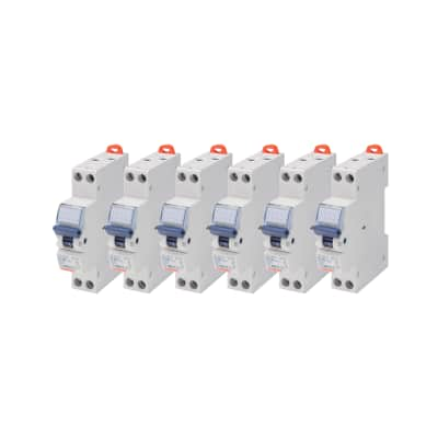 Interruttore magnetotermico GEWISS 1P+N 10A 4.5kA C 1 modulo 230V