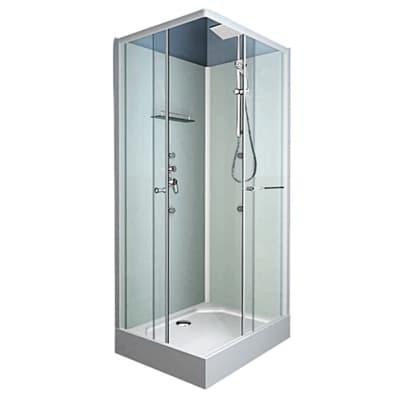 Cabina doccia idromassaggio quadrato Dina 80 x 80 cm