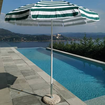 Ombrellone NATERIAL Venezia L 1.85 x P 1.85 m color verde / bianco